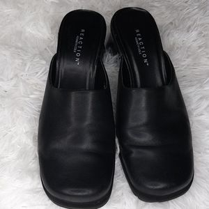 Kenneth Cole Reaction Black Mules size 7